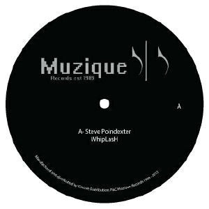 "Steve Poindexter / Eric Martin - Whiplash / Emergency - 12"" - Muzique Records - MUSIQUE 001"