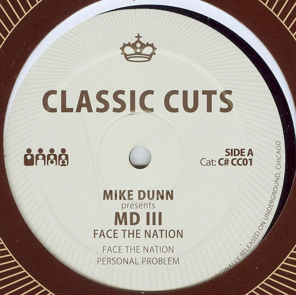 "Mike Dunn - Face the Nation - 12"" - Clone - C#CC001"