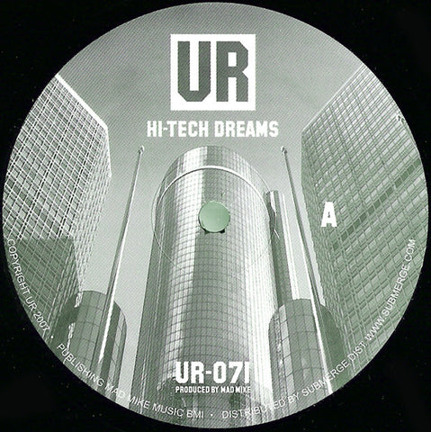 "Mad Mike - Hi-Tech Dreams / Lo-Tech Reality - 12"" - Underground Resistance - UR-071"