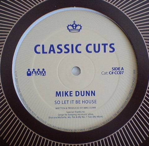 "Mike Dunn - So Let it Be House - 12"" - Clone - C#CC007"