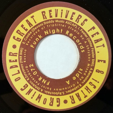 "Great Revivers feat. E & Ishtar - Growing Older - 7"" - Fnr - FNR-072"