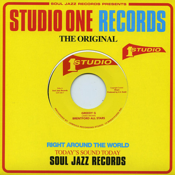 "Brentford All Stars / IM & Sound Dimension - Greedy G / Love Jah - 7"" - Soul Jazz Records - SJR 336-7"