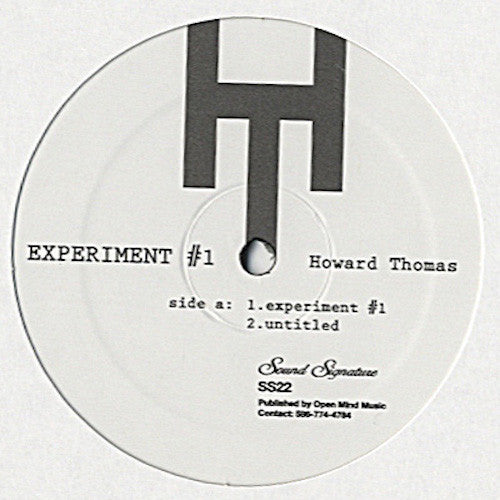 "Howard Thomas - Experiment #1 - 12"" - Sound Signature - SS22"