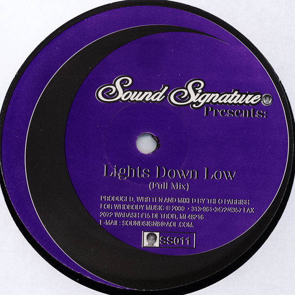 "Theo Parrish - Lights Down Low - 12"" - Sound Signature - SS011"