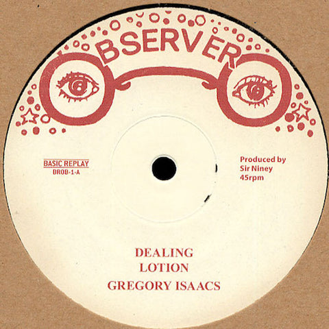 "Gregory Isaacs / Ken Boothe - Dealing / Memories - 12"" - Basic Replay - BROB-1"