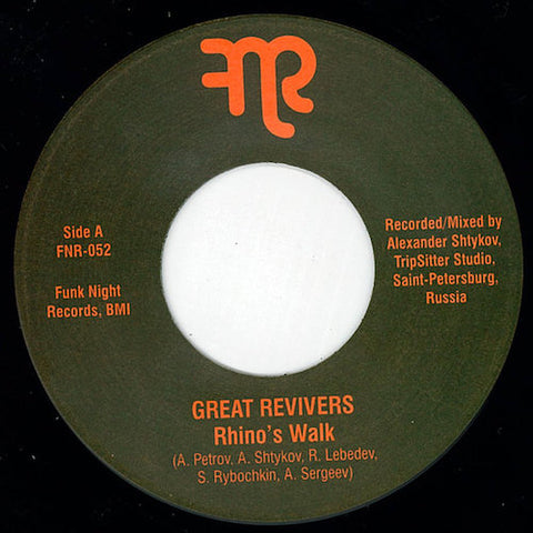 "Great Revivers - Rhino's Walk - 7"" - Fnr - FNR-052"