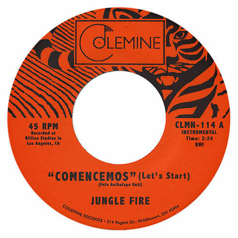 "Jungle Fire - Comencemos - 7"" - Colemine Records - CLMN-114"