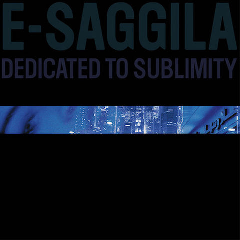 "E-Saggila - Dedicated to Sublimity - 12"" - Bank Records NYC - BNK015"