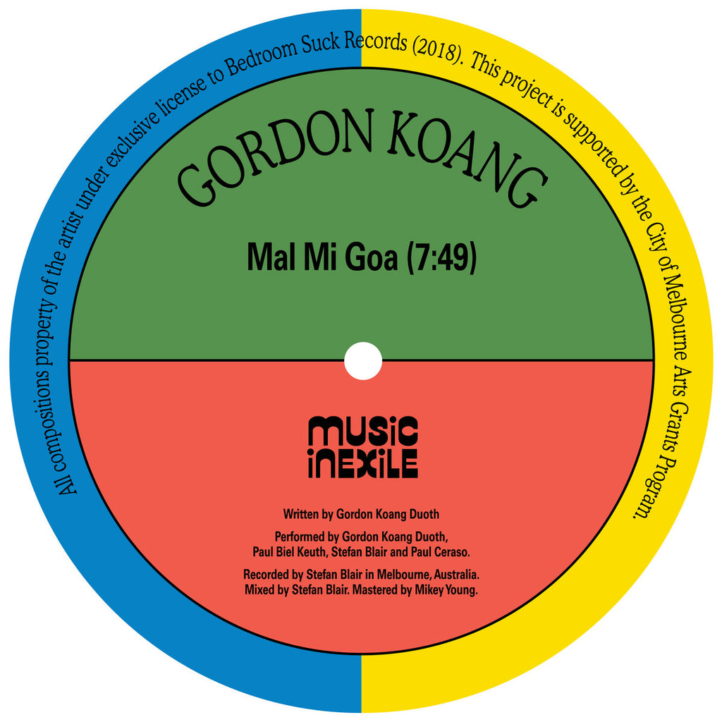 "Gordon Koang - Mal Mi Goa / Salaam - 12"" - Music In Exile - MIE001"
