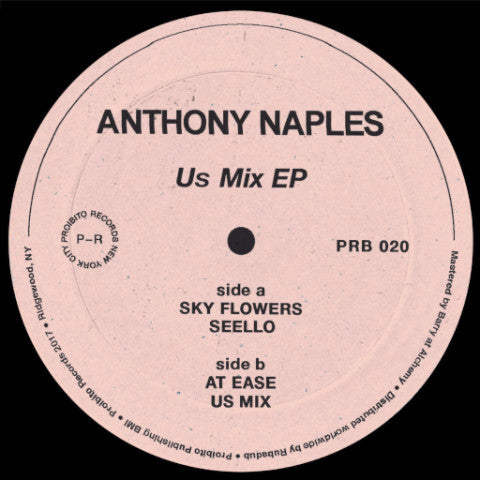 "Anthony Naples - Us Mix EP - 12"" - Proibito - PRB 020"