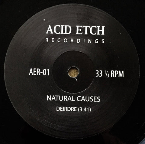 "Natural Causes / Sponge Bath - 7"" - Acid Etch Recordings - AER-01"