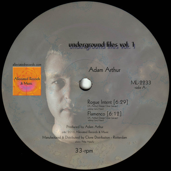 "Adam Arthur / Michael Kuntzman - Underground Files Vol 1 - 12"" - Alleviated Records - ML 2233"
