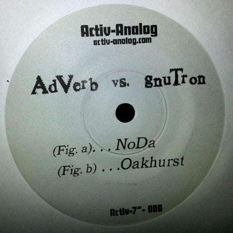 "AdVerb vs. gnuTron - 7"" - Activ-Analog - activ-006-7"