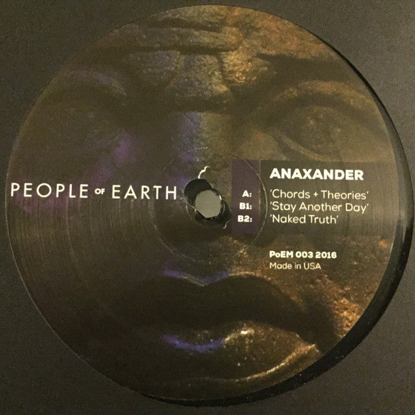 "Anaxander ‎- Chords + Theories - 12"" - People of Earth - POEM 003"