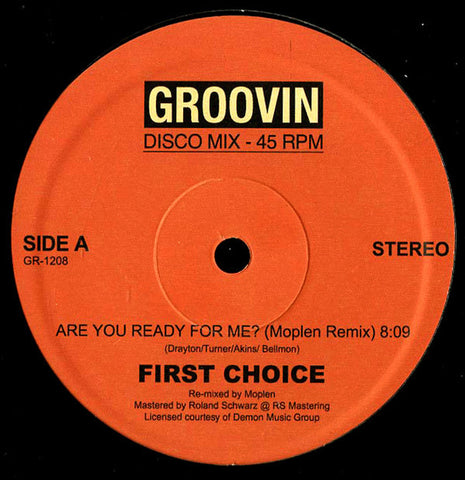 "First Choice - Are You Ready For Me? - 12"" - Groovin Recordings - GR-1208"