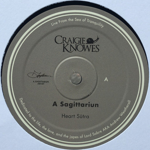 "A Sagittariun ‎- Live From The Sea Of Tranquility - 12"" - Craigie Knowes - CKNOWEP 25"