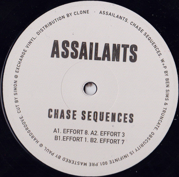 "Assailants - Chase Sequences - 12"" - Obscurity Is Infinite - OII001"