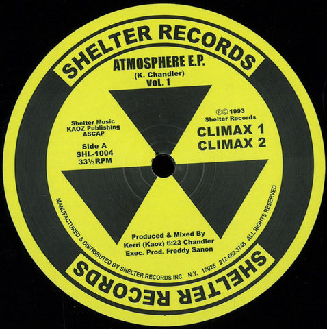"Kerri Chandler - Atmosphere E.P. Vol. 1 - 12"" - Shelter Records - SHL-1004"