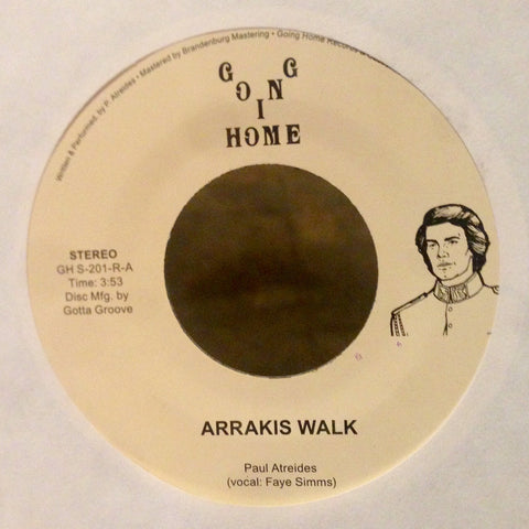 "Paul Atreides - Arrakis Walk / Thinking Machines - 7"" - Going Home - GH S-201-R"