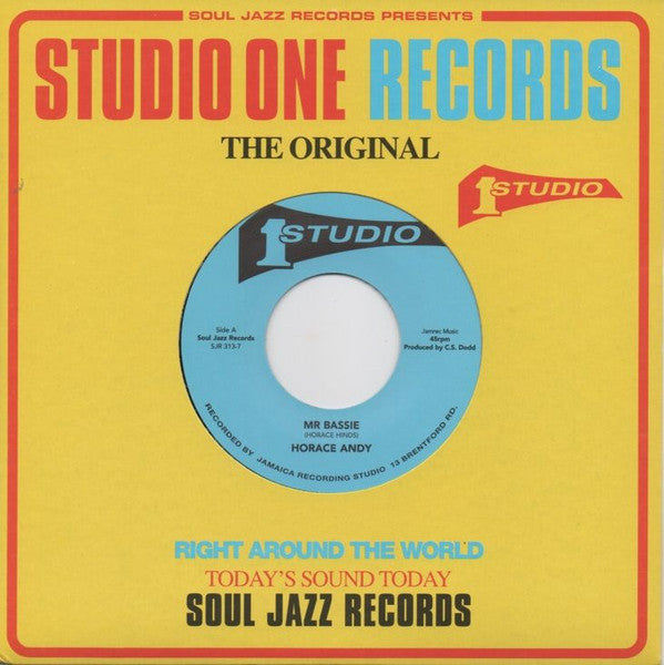 "Horace Andy / Jackie Mittoo & The Soul Vendors - Mr Bassie / Napoleon Solo - 7"" - Soul Jazz Records - SJR 313-7"