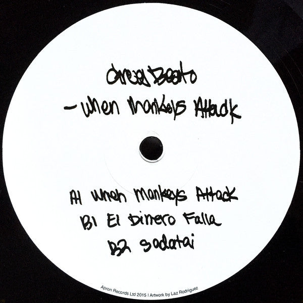"Greg Beato - When Monkeys Attack - 12"" - Apron Records - APRON19"