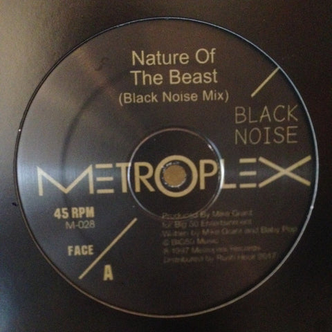 "Black Noise - Nature of the Beast - 12"" - Metroplex - M-028"