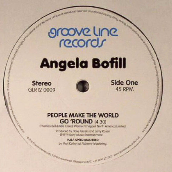 "Angela Bofill - People Make the World Go 'Round - 12"" - Groove Line Records - GLR12 0009"