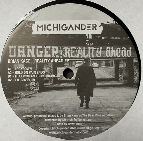 "Brian Cage - Reality Ahead EP - 12"" - Michigander - MM05"