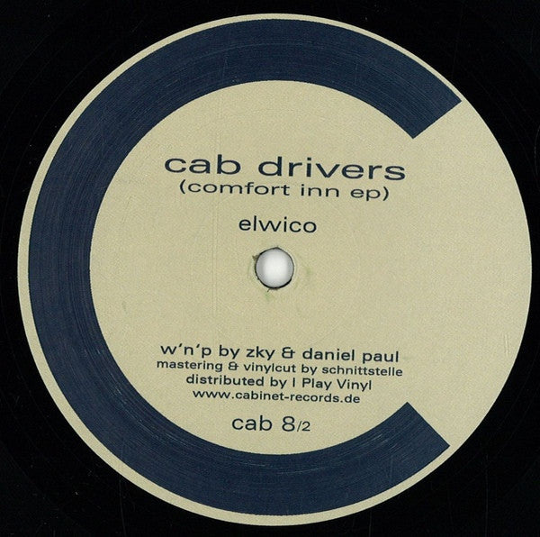 "Cab Drivers - Comfort Inn EP - 12"" - Cabinet - cab 8/2"