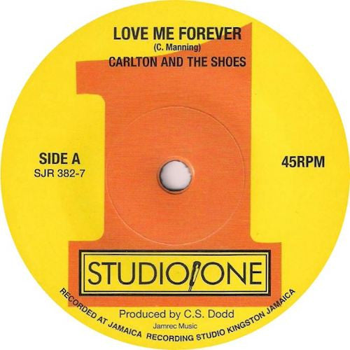"Carlton and the Shoes - Love Me Forever - 7"" - Soul Jazz - SJR382-7"