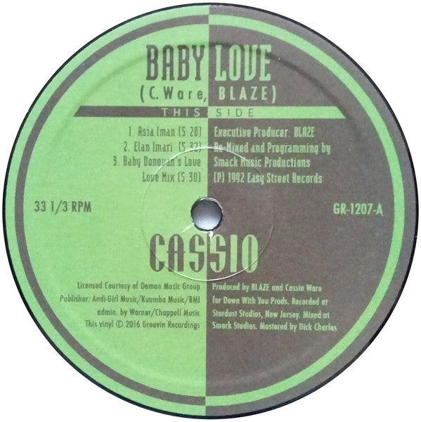"Cassio - Baby Love - 12"" - Groovin Recordings - GR-1207"