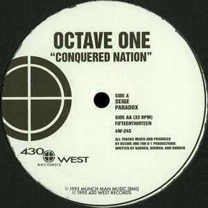 "Octave One - Conquered Nation - 12"" - 430 West - 4W-245"