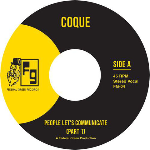 "Coque - People Let's Communicate - 7"" - Federal Green Records - FG-004"