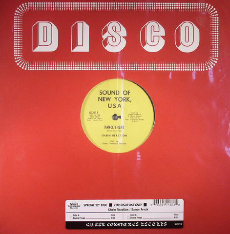 "Chain Reaction - Dance Freak - 12"" - Queen Constance Records - QC707"