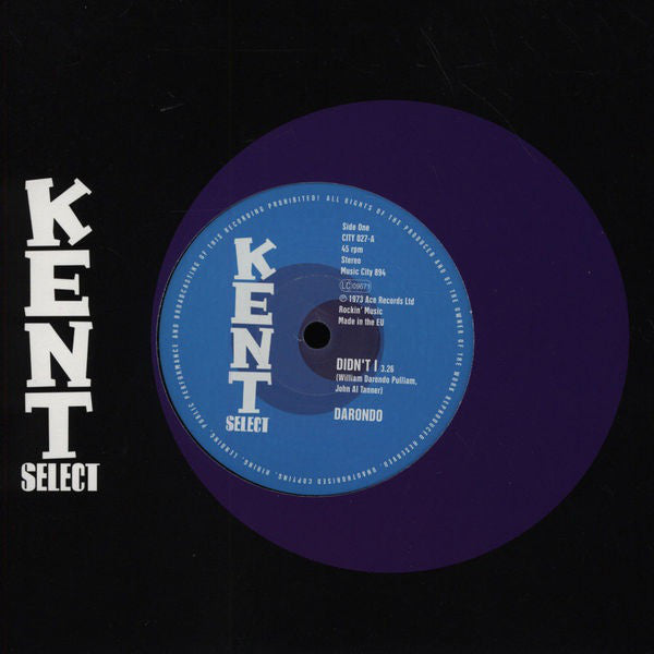 "Darondo - Didn't I - 7"" - Kent Select - CITY 027"
