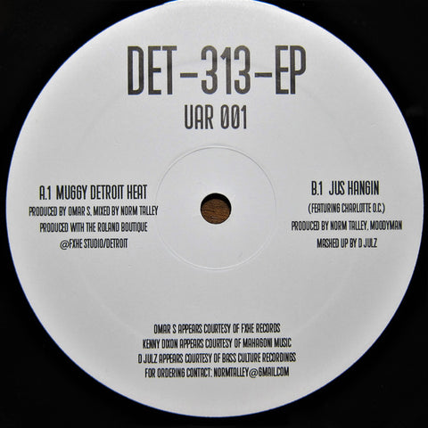 "Norm Talley, Moodymann & Omar S - Det-313-EP - 12"" - Upstairs Asylum Recordings ‎- UAR 001"