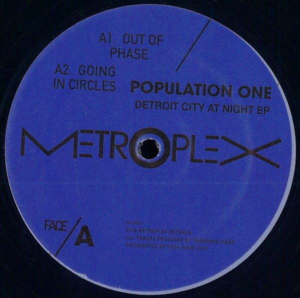 "Population One - Detroit City at Night EP - 12"" - Metroplex - M-045"