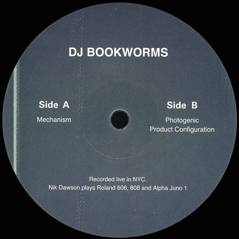 "DJ Bookworms - Mechanism - 12"" - Anòmia - ANM005"