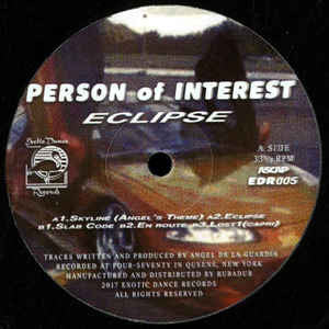 "Person of Interest - Eclipse - 12"" - Exotic Dance Records - EDR 005"