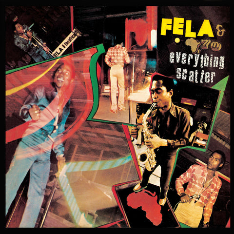 Fela Kuti - Everything Scatter - LP - Knitting Factory Records ‎- KFR2013-1