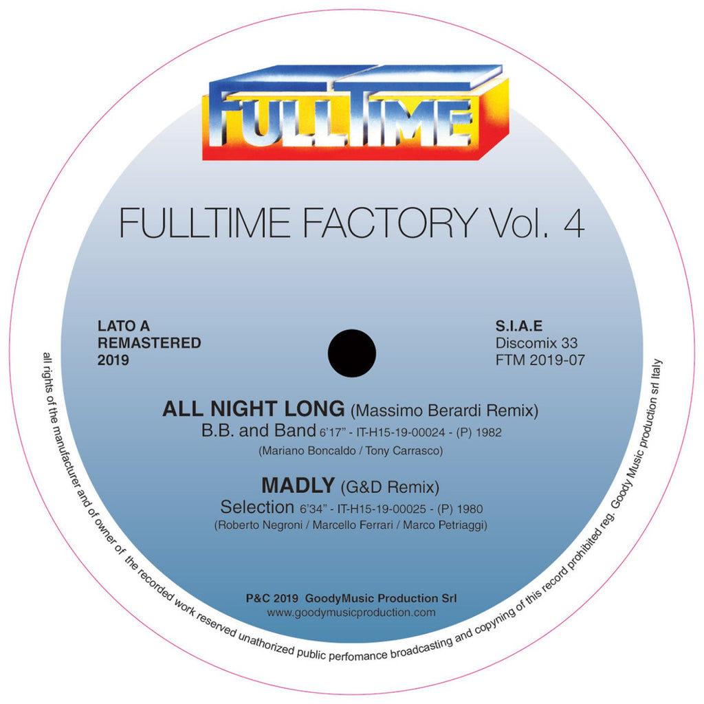 "VA - Fulltime Factory Vol. 4 - 12"" - Full Time Records - FTM 2019-07"