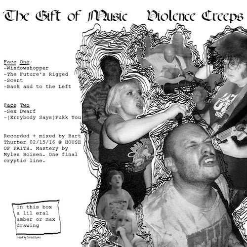 "Violence Creeps - The Gift of Music - 12"" - Total Punk - TPR-108"