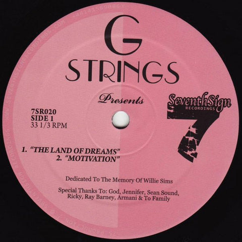 "G-Strings - The Land of Dreams - 12"" - Seventh Sign - 7SR020"