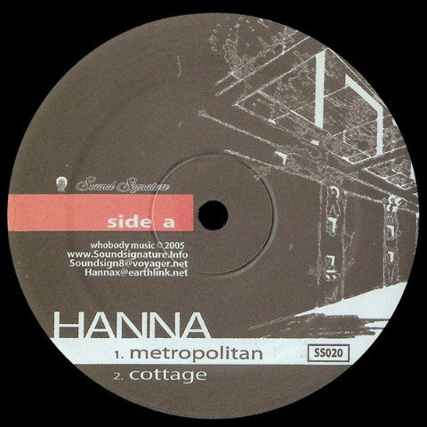 "Hanna - Time Hotel - 12"" - Sound Signature - SS020"