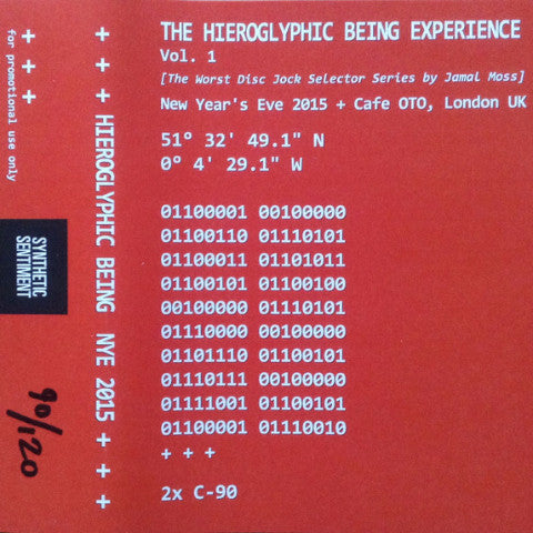 Hieroglyphic Being - The Hieroglyphic Being Experience Vol. 1 - 2xCS - + + + - SYNSEN005