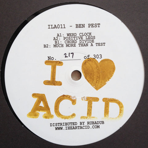 "Ben Pest - 12"" - I Love Acid - ILA011"