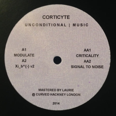 "Corticyte - Modulate - 12"" - Unconditional Music - UNCOM02"