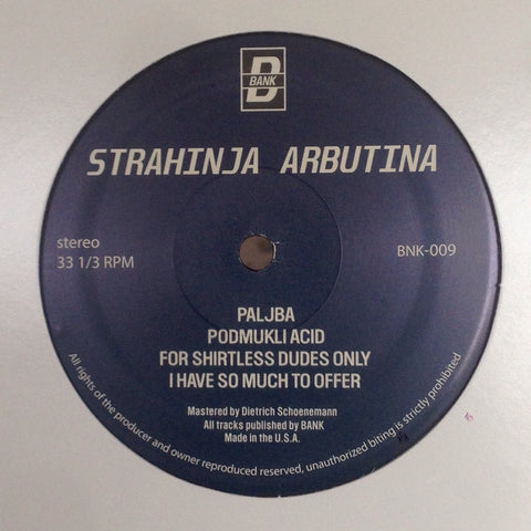 "Strahinja Arbutina - 12"" - BANK Records NYC - BNK009"