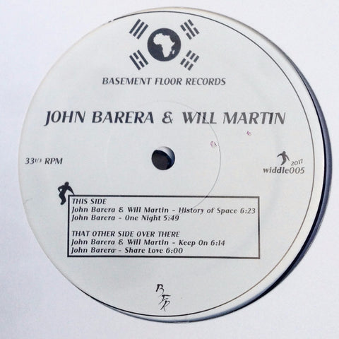 "John Barera / Will Martin - History of Space - 12"" - Basement Floor Records - Widdle-005"