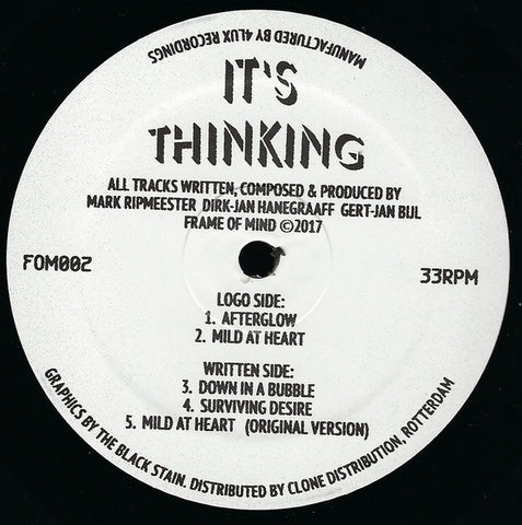 "It's Thinking - Afterglow - 12"" - Frame Of Mind - FOM002"